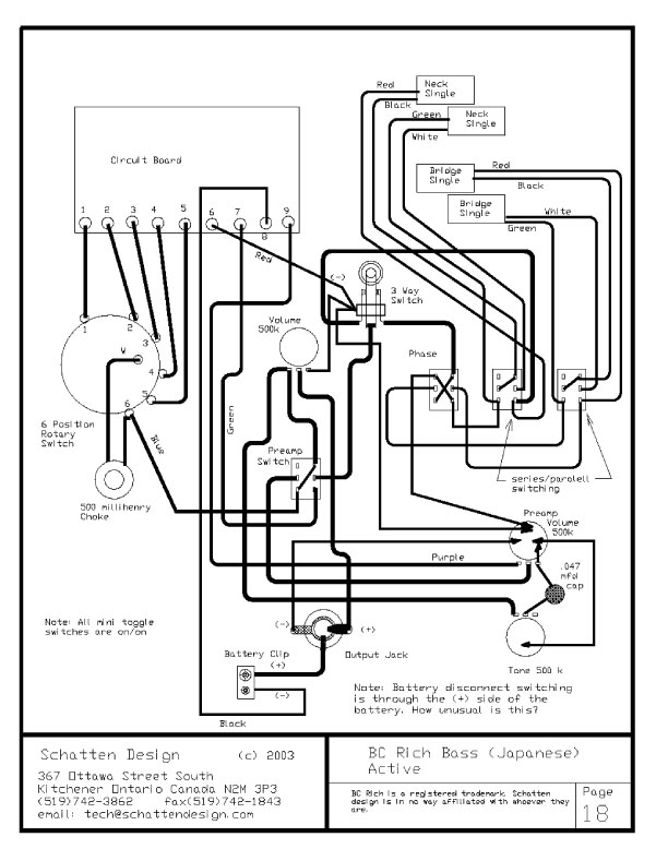 Artec Guitar Wiring Diagram Book